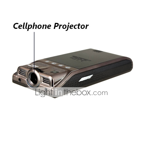 DS900 4th Gernaration Quad Band TV with Unique Projector Special Design Cell Phone Black (2GB TF Card)