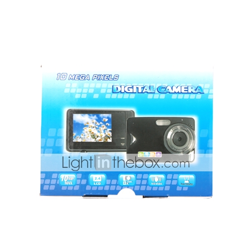 10 MP Digital 2.4 Inch LCD Touch Screen and 8×Digital Zoom