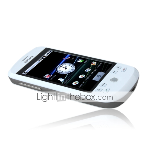 G2000 GPhone Original Google Android Single Card Tri Band 3.2 Inch Touch Screen Cell Phone White (2GB TF Card)