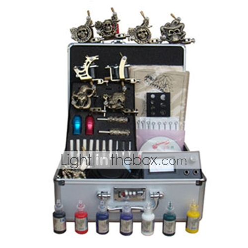 kit machine à tatouer jeu complet avec 9 machine de tatouage (03595.2680)