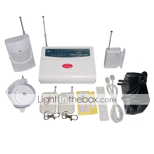 8-Zones Wireless Intelligent Security and Protection Alarm System
