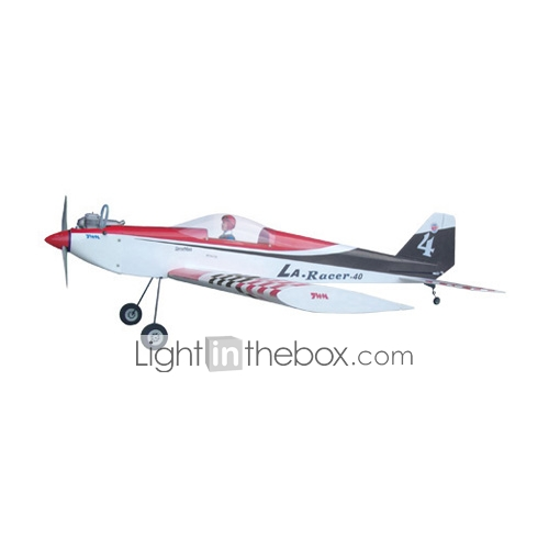 LA RACER 40 Black  + OS46LA/4XS Engine Airplane (0893-TWA235CS1-BLK)