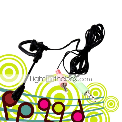 Mini Computer PC Laptop Headset Headphone Earphone Microphone (SMQ4815)