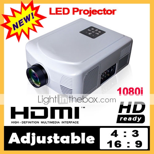 2000lm hdmi 100-230V 1080i LED Proiettore 800 * 600 per l'home theater dvd portatile tv (YS-led)