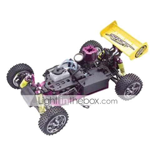 1/10th scala nitro powered 4wd off-road buggy bianco & verde (tpcb-1082kg)