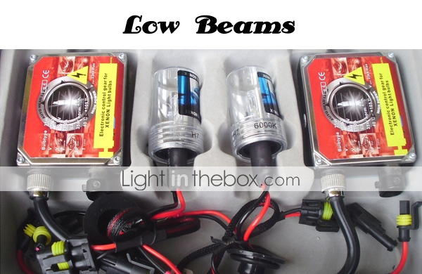 35W -  HID Xenon Kit - Lamp H7 Low and H1 High for Benz E200
