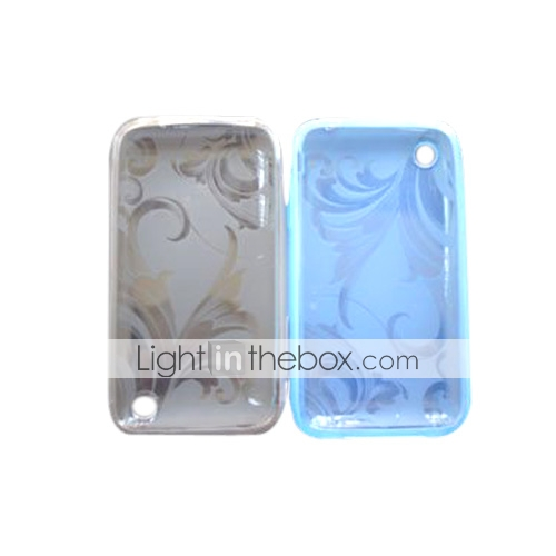 le vent de la Chine en silicone tui de protection pour iPhone 3G/3GS - (3 couleurs par paquet) (czah071)