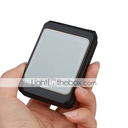 Q5 Dual Card Dual Band JAVA Dual Camera Flashlight Dual Screen Flat Touch Screen Flip Cell Phone (2GB TF Card)