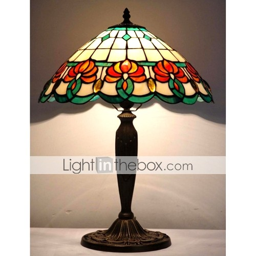 Tiffany-style Jewel Floral Table Lamp(0923-T31)
