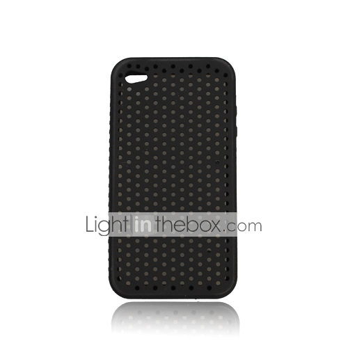 Silicone Protective Case for iPhone 4 - Grid (5 Colors Per Pack) 1#