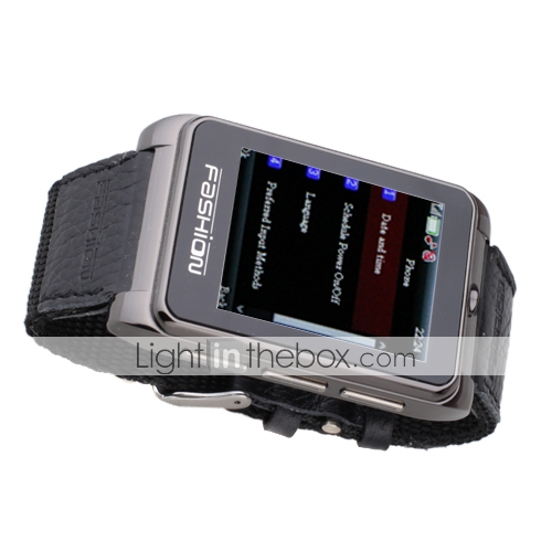 S9110 Dual Card Quad Band Ultra Thin Compass Wrist 1.8 Inch Touch Screen Watch Cell Phone Black (2GB TF Card)