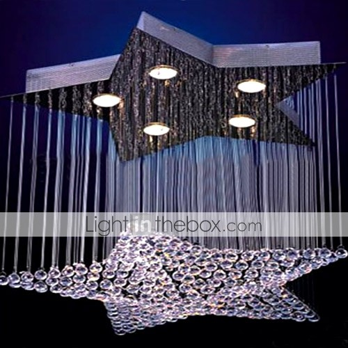 K9 Crystal 5-light Star Shape Chandelier(0946-OL-082)