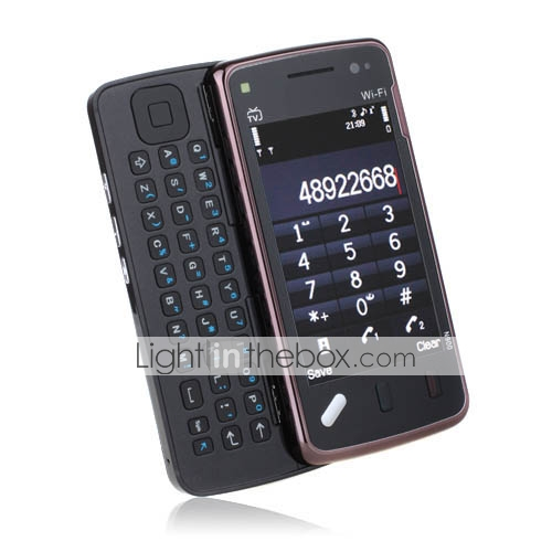 N97C Style Wifi Dual Card Dual Camera Quad Band With WIFI TV Touch Screen Slide Cell Phone(2GB TF Card)