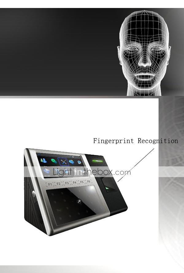 ZK iFace Multi-biometric Facial and Fingerprint Identification Time Attendance Terminal (0981-iFace302)