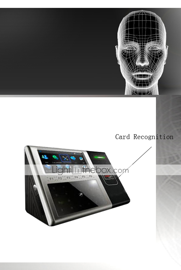 ZK iFace Multi-biometric Facial and Card Identification Time Attendance Terminal (0981-iFace301)
