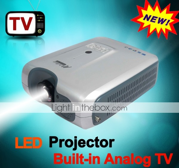 Built-in Analog TV Tuner HDMI 150Inch 1080P 2000lm LED Projector 800*600 for Home Theater DVD TV Laptop (XP516LHTS)
