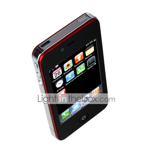 nouvelle i68 quad band double carte SIM bluetooth double caméra java TV FM 3,4 pouces de mobile à écran tactile (2 Go Carte TF) (sz05151236)