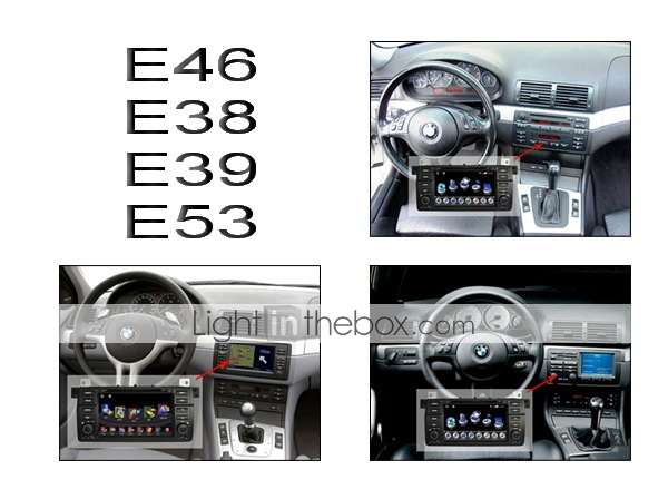 7 Inch Car DVD Player For BMW with GPS Bluetooth TV RDS 3D