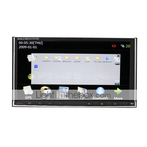 Car PC + DVD Player + 7 Inch Touchscreen + Wifi/3G + Surf the Internet + GPS + Support iPod