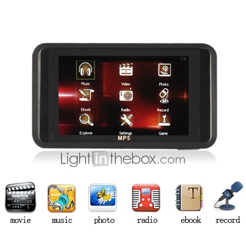 1gb 3.0 pollici TFT-LCD registrazione mp3/video/ebook/radio/voice Media Player - 3 colori disponibili (kly266)
