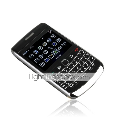 9700 + dual qwerty-kaart quad-band tv java mobiele telefoon (2GB TF-kaart)