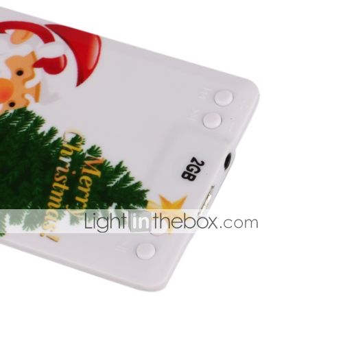 1GB Slim Card MP3 Player With Cartoon Printing