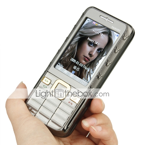 6208c Dual Card Built in Cigarette lighter Touchscreen Cell Phone Black(2GB TF Card)