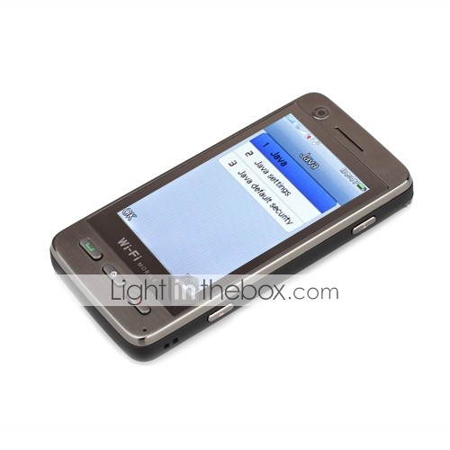 N900 Dual Card Dual Camera TV WIFI JAVA 3.2 Inch Touch Screen Cell Phone Black(2GB TF Card)