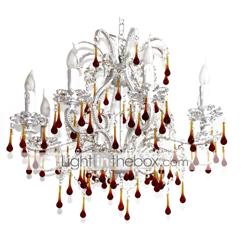Crystal Chandelier with 8 lights - Neuschwanstein Design