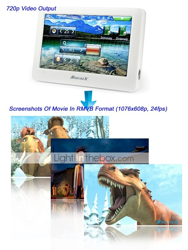 8GB 4.3 Inch HD Portable Media Player With 720P Output(8510)