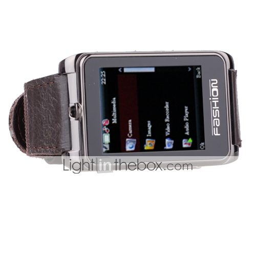 S9110 - 1.8 Inch Watch Cell Phone Black (Bluetooth MP3 MP4 Player)