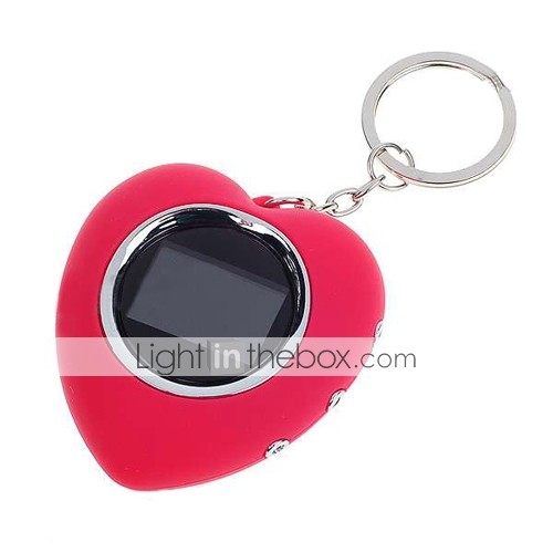 1.1-inch Heart Shaped LCD Photo Frame Keychain