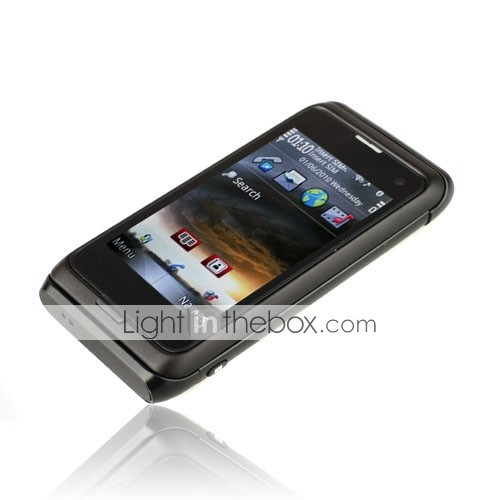 N98 WIFI TV Dual Card Dual Camera QWERTY Touch Screen Slide Cell Phone Black(2GB TF Card)