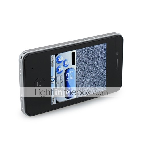V23 mini quad band double carte tv écran tactile mobile noir (carte 2GB TF) (sz09890078)