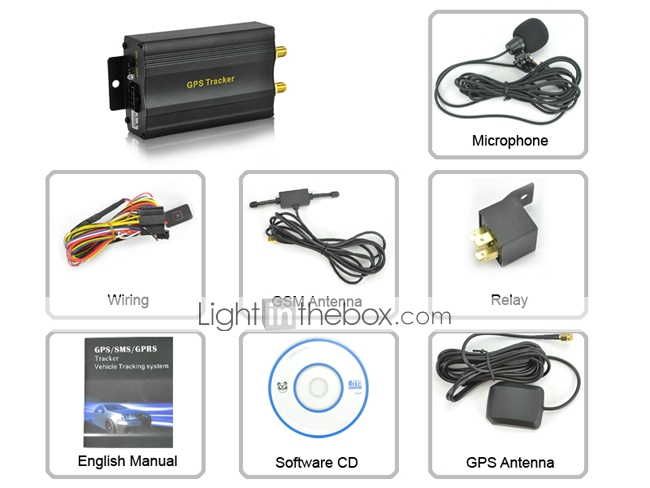 mundial gps tracker vehculo con alertas sms