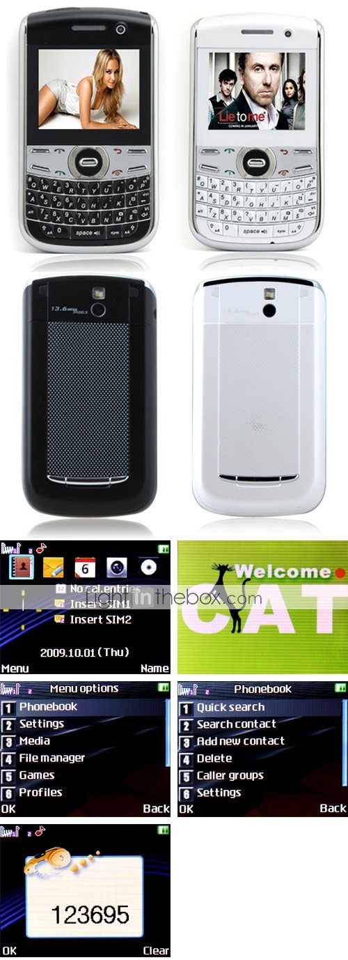 MiNi 9700 Dual SIM Dual Camera TV Flashlight QWERTY Cell Phone