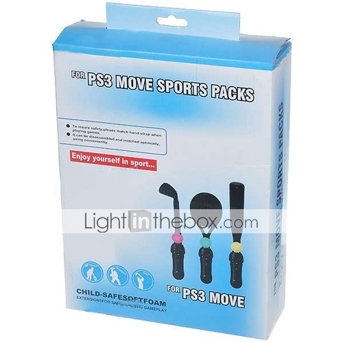Tennis/Baseball/Golf Sports Pack for PS3 Move Motion Control Sport Game