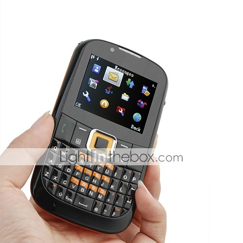 F3210 Quad Band Dual Card TV JAVA Dual Camera QWERTY Cell Phone Black