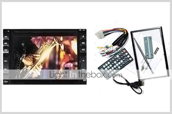 6,2-inch touch screen 2 din in-dash auto dvd speler tv en bluetooth ondersteuning ipod