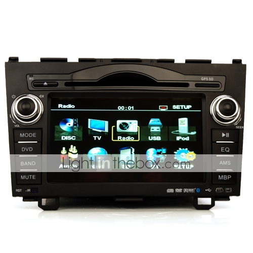 7 Inch Special In-Dash Car DVD Player For CRV Support IPOD Bluetooth RDS Steering Wheel Control