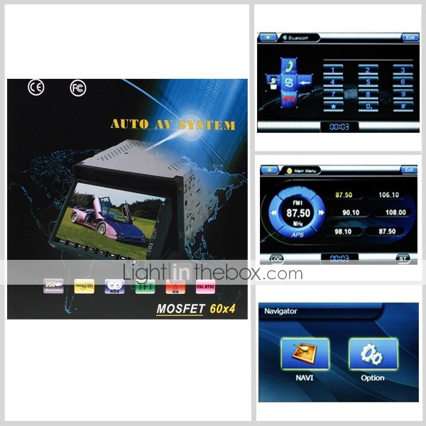 6.2 Inch Digital Screen 2 Din Car DVD Player Support GPS IPOD Bluetooth DVB-T PIP Steering Wheel Control