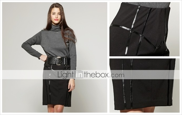TS Splicing PU Skirt