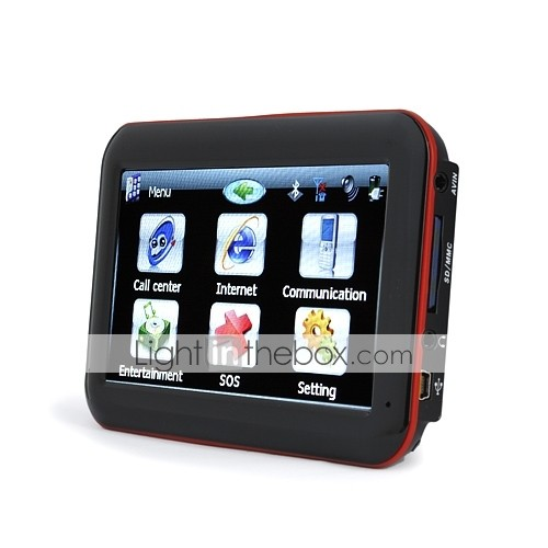 5 Inch Touchscreen Car GPS Navigator + Mobile Phone-Surfing Internet-AVIN-Multimedia
