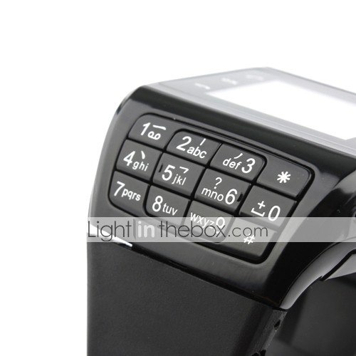 Dual SIM 1.3 Inch Watch Cell Phone (Quadband, FM, MP3 MP4 Player)
