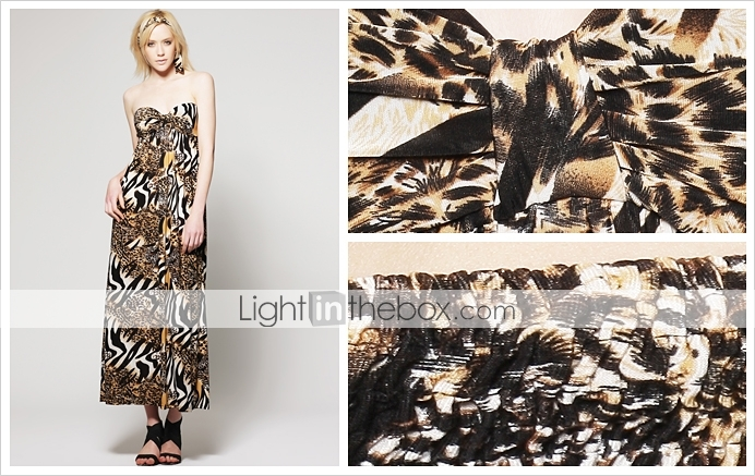 Mix animal print Maxi Dress