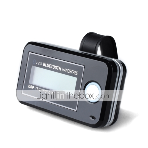 Bluetooth Handsfree Car Kit With LCD Display, Voice Dial, Phonebook Function, DSP Technology