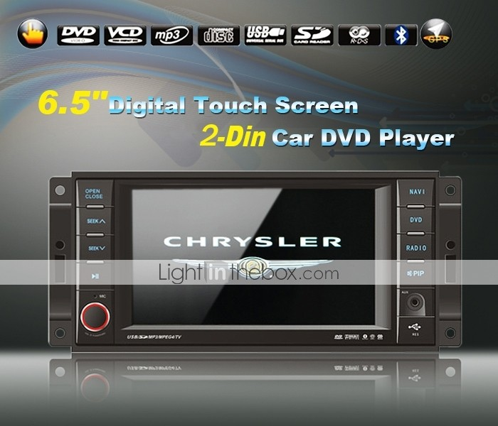 6,5-Zoll-Car DVD-Player für Chrysler / Jeep / Dodge mit tv gps bluetooth