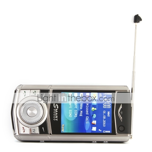 dual sim slide phone 2,4 pollici (quadband TV FM java)