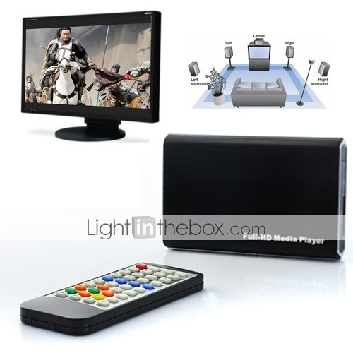 1080P Full HD Multi-Media Player with Remote Control, HDMI Output