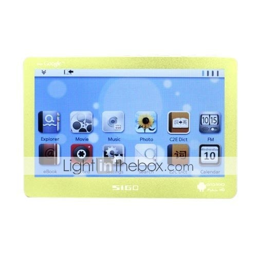 sigo - 4,3 polegadas touch screen Android OS + melis media player (4GB, 720p, 4 cores disponveis)